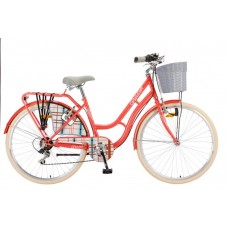 Велосипед POLAR GRAZIA 26 6-BRZINA coral Burberry 20 2021