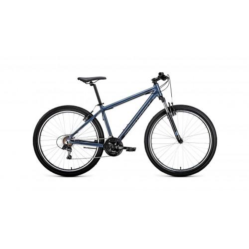 """велосипед Forward Apache 27,5 1.0 (рост17"""")2020 Серый / черный"""