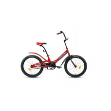 """Детский велосипед Forward Scorpions 20 1.0 (рост 10.5"""") 2020 красный / черный"""