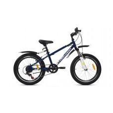 """Детский велосипед Forward Unit 20 2.0 (рост 10.5"""") 2020 темно-синий / белый"""