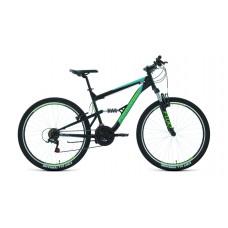 """Велосипед Forward Raptor 27,5 1.0 (рост 16"""") 2020 черный / бирюзовый"""