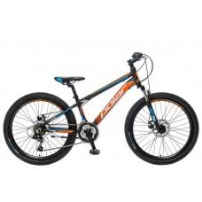 Велосипед POLAR ALASKA 24 black-orange-blue 19 2021