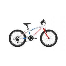"""Детский велосипед Forward Rise 20 2.0 (рост10.5"""") 2020 белый /красный"""