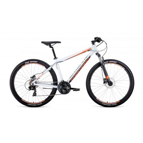 """велосипед Forward Apache 27,5 3.0 disc (рост15"""")2020 белый / оранжевый"""