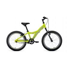 """Детский велосипед Forward Comanche 20 1.0 (рост 10.5"""")2020 желтый / белый"""