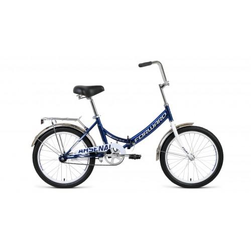 """велосипед Forward Arsenal 20 1.0 (рост14"""")2020 темно-синий / серый"""