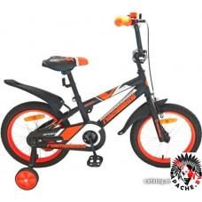 Детский велосипед Nameless Sport 12 (черный/оранжевый)