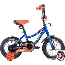 Детский велосипед Novatrack Neptune 12 (синий/оранжевый, 2019)