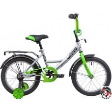 Детский велосипед Novatrack Vector 16 (серебристый/салатовый, 2019)