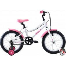 Детский велосипед Stark Foxy 16 girl (белый/розовый, 2020)