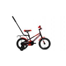 Детский велосипед FORWARD METEOR 14 2021 черный / красный