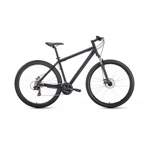 """Велосипед FORWARD SPORTING 29 2.1 DISC 21"""" 2021 черный матовый / черный"""