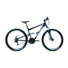 """Велосипед FORWARD RAPTOR 27,5 2.0 DISC 16"""" 2021 черный / фиолетовый"""