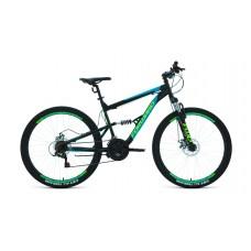"""Велосипед FORWARD RAPTOR 27,5 2.0 DISC 16"""" 2021 черный / бирюзовый"""