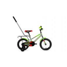 Детский велосипед FORWARD METEOR 14 2021 серый / зеленый