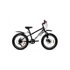 Детский велосипед FORWARD UNIT 20 3.2 DISC 2021 черный / белый