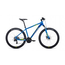 "Велосипед FORWARD APACHE 27,5 2.2 S DISC 21"" 2021 синий / зеленый"