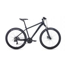 """Велосипед FORWARD APACHE 27,5 2.2 S DISC 17"""" 2021 черный матовый / черный"""