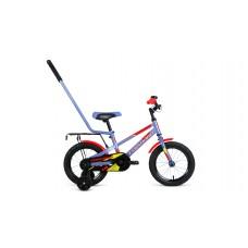 Детский велосипед FORWARD METEOR 14 2021 серый /красный