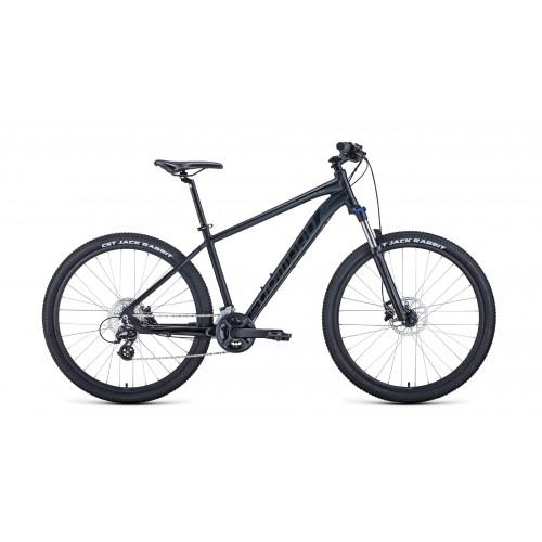 """Велосипед FORWARD APACHE 27,5 X 21"""" 2021 черный матовый / черный"""
