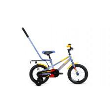 Детский велосипед FORWARD METEOR 14 2021 серый / желтый