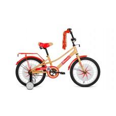 Детский велосипед FORWARD AZURE 20 2021 бежевый / красный
