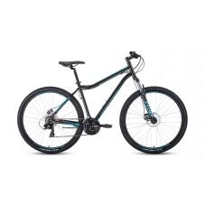 """Велосипед FORWARD SPORTING 29 2.2 DISC 19"""" 2021 черный / бирюзовый"""