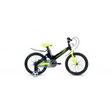 Детский велосипед FORWARD COSMO 16 2.0 2021 черный / зеленый