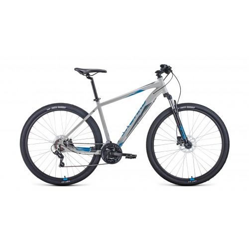 "Велосипед FORWARD APACHE 29 3.2 DISC 17"" 2021 серый / синий"