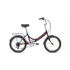 Велосипед FORWARD ARSENAL 20 2.0 2021 темно-синий / оранжевый