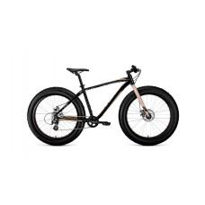Велосипед FORWARD BIZON 26 2021 черный / бежевый