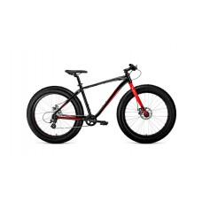 Велосипед FORWARD BIZON 26 2021 черный / красный