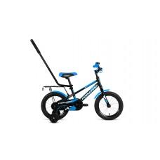Детский велосипед FORWARD METEOR 14 2021 черный / синий