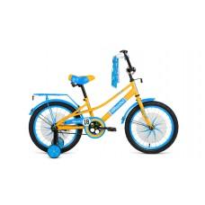 Детский велосипед FORWARD AZURE 20 2021 желтый / голубой