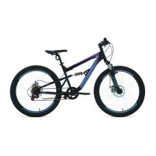 """Велосипед FORWARD RAPTOR 27,5 1.0 18"""" 2021 черный / фиолетовый"""