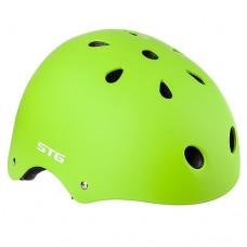 Шлем STG MTV12 lime с фикс застежкой р-р M(55-58 cm) Х89044