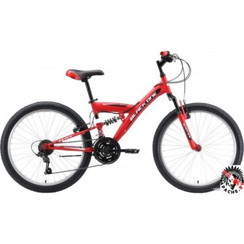 Велосипед Black One Ice FS 24 2020 (красный)